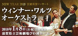 お馴染み大好評のニューイヤーコンサートが今年も来日!NEW YEAR 2018 宮殿祝賀コンサート ウィンナー・ワルツ オーケストラ